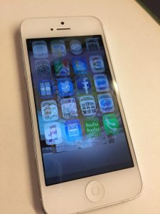 ブレてるみたいに二重表示のiPhone5