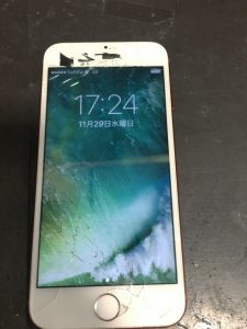 iPhone6sガラス割れ(タッチ不良)