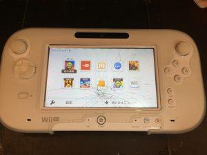 Wiiu pad タッチガラス修理前