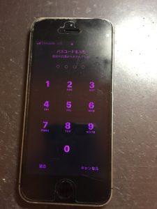 画面が紫になってしまったiPhone5s