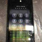 下側の破損でタッチ不良のiPhoneXR
