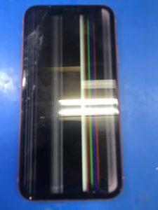 縦線で見えなくなったiPhoneXR