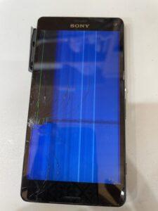 液晶が割れて縦線が出ているXperia Z3compact