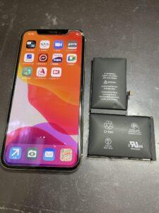 バッテリー交換完了のiPhoneX