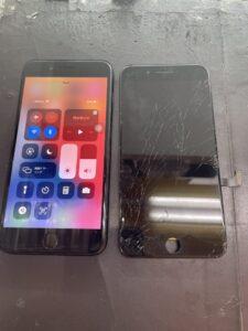 ガラス交換後のiPhone7Plus